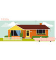 1950s house vector image