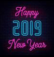 2019 happy new year neon