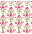 Abstract damask tulips seamless pattern background vector image vector image