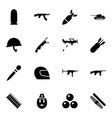 army icons vector image vector image
