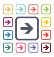 arrow flat icons set vector image vector image