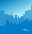 Background with a city silhouette vector image