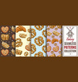 Bakery color patterns set vector image vector image