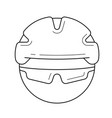 bicycle helmet line icon vector image vector image