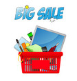 Big sale chopping card with objects