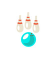 bowling cute cartoon icon vector image