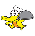 Chef Crocodile vector image