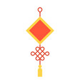 chinese knot flat design icon vector image vector image