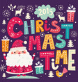 christmas with santa claus vector image vector image