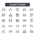 client line icons signs set linear vector image vector image
