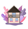 cozy detailed house icon isolated on vector image