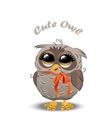 Cute owl in a hat