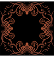 Dark brown ornamental element for design vector image