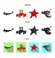 design of sea and animal symbol collection vector image vector image