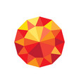 diamond orange and red color vector image