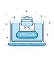 email marketing and promotion computer with email vector image