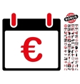Euro Calendar Day Flat Icon With Bonus vector image vector image