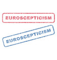 euroscepticism textile stamps vector image vector image