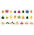 fall and autumn leaves colorful autumn leaf set vector image vector image