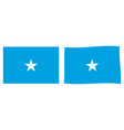 federal republic somalia flag simple and vector image