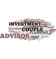 financial advisor word cloud concept vector image vector image