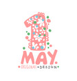 first may international labor day logo template vector image vector image