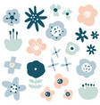 flower simple minimalistic set vector image vector image