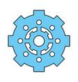 gear wheel vector image vector image