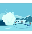Geyser And the Bridge vector image
