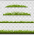 grass frame in transparent background vector image vector image