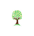 green nature tree logo vector image vector image