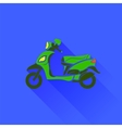 Green Scooter Silhouette vector image vector image