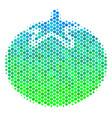 halftone blue-green tomato vegetable icon vector image