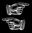 Hands Pointing to the Left and Right vector image vector image