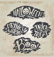 happy halloween calligraphy backgrounds vector image vector image
