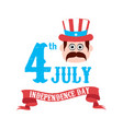 happy independence day 4th of july vector image vector image