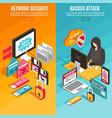 internet hacker banners vector image vector image
