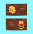 isometric burger business card template vector image vector image