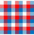 lumberjack plaid pattern in red white and blue vector image vector image