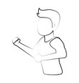 man avatar running icon image vector image vector image