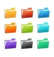 many rainbow folders set on the white vector image vector image