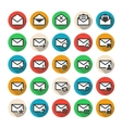 Multicolored mail icons vector image vector image