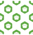 Pan with lid pattern vector image vector image