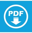 PDF download sign icon vector image vector image