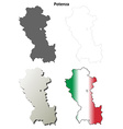 Potenza blank detailed outline map set vector image vector image
