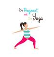 prenatal yoga exercising flat vector image vector image