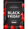 promo poster for black friday sale vector image vector image