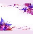 purple flower background vector image vector image