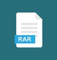rar format file icon symbol vector image vector image