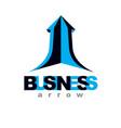 rising arrow business success conceptual logo vector image